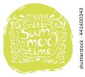 summer  hand drawn text... | Shutterstock .eps vector #441600343