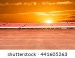 running track and bleachers at... | Shutterstock . vector #441605263