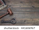 judges or auctioneer gavel ... | Shutterstock . vector #441606967