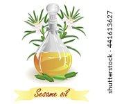 sesame oil. hand drawn vector... | Shutterstock .eps vector #441613627