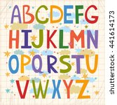 cute alphabet for children.... | Shutterstock . vector #441614173