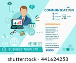 communication design concepts... | Shutterstock .eps vector #441624253