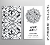 business card with black and... | Shutterstock .eps vector #441625753
