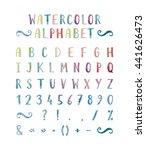 handwritten bold grunge font...   Shutterstock .eps vector #441626473