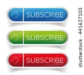 subscribe button vector set | Shutterstock .eps vector #441627103
