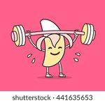 vector illustration of yellow... | Shutterstock .eps vector #441635653