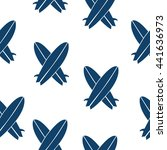 surfboards seamless pattern in... | Shutterstock .eps vector #441636973