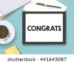 work on the tablet | Shutterstock .eps vector #441643087