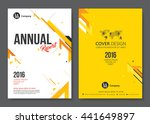 cover template design. vector... | Shutterstock .eps vector #441649897