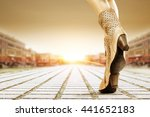 brown big shoes  | Shutterstock . vector #441652183