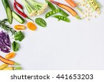food background border frame of ... | Shutterstock . vector #441653203