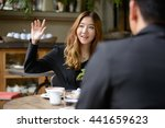 asian couple coffee shop | Shutterstock . vector #441659623