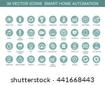 vector icons for smart home... | Shutterstock .eps vector #441668443