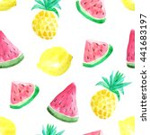 seamless pattern with colorful... | Shutterstock . vector #441683197