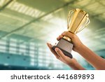 award trophy for winner... | Shutterstock . vector #441689893