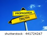 propaganda or truth   traffic...   Shutterstock . vector #441724267