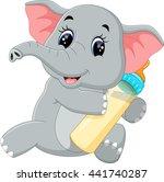 cute elephant cartoon | Shutterstock .eps vector #441740287