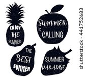 summer paradise. typography... | Shutterstock .eps vector #441752683