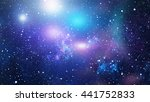 starry outer space background... | Shutterstock . vector #441752833