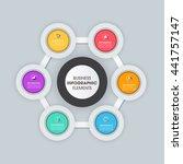 business infographics vector... | Shutterstock .eps vector #441757147