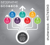 circle infographics design... | Shutterstock .eps vector #441765043