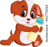 cute dog cartoon | Shutterstock . vector #441770563