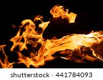 fire flowing through wood on a... | Shutterstock . vector #441784093