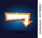 electric bulbs billboard. retro ... | Shutterstock .eps vector #441788803