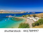 lindos beautiful bay view from... | Shutterstock . vector #441789997
