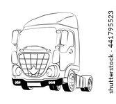truck black vector illustration ... | Shutterstock .eps vector #441795523