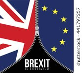 brexit concept. british flag.... | Shutterstock .eps vector #441797257