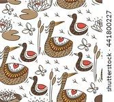 doodles design  wild duck... | Shutterstock .eps vector #441800227