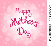 congratulations on mother's day.... | Shutterstock .eps vector #441807007