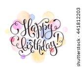 happy birthday greeting card.... | Shutterstock .eps vector #441812203