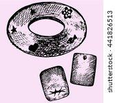 inflatable swim ring  pair... | Shutterstock .eps vector #441826513