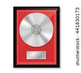 Platinum Vinyl In Frame On Wal...