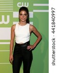Small photo of NEW YORK, NY - MAY 14: Actress Marie Avgeropoulos attends the 2015 CW Network Upfront Presentation at the London Hotel on May 14, 2015 in New York City.