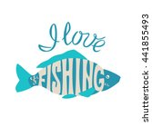 fish with an inscription. i... | Shutterstock .eps vector #441855493