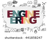 science concept  painted...   Shutterstock . vector #441858247