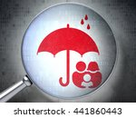 protection concept  magnifying... | Shutterstock . vector #441860443