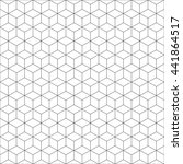 geometric cube seamless pattern.... | Shutterstock .eps vector #441864517