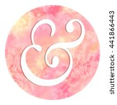 pastel red watercolor circle... | Shutterstock . vector #441866443