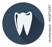 tooth icon. flat color design....