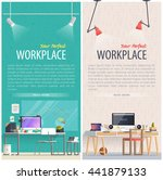 office workplace illustration.... | Shutterstock .eps vector #441879133