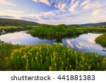 Blue Sky Reflection With...