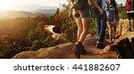 trek hiking destination... | Shutterstock . vector #441882607