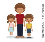 family members design  | Shutterstock .eps vector #441892183