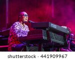 Small photo of Musician Stevie Wonder performs onstage during day 1 of the 2015 Life Is Beautiful Festival on September 25, 2015 in Las Vegas, Nevada.