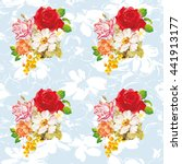 seamless floral pattern with...   Shutterstock .eps vector #441913177
