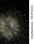 explosion of fireworks in the... | Shutterstock . vector #44191321